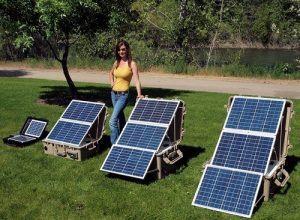 Portable Solar Generators In Garden