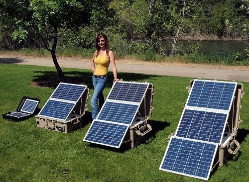 Portable Solar Generators In Garden