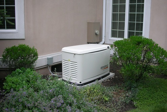 Stationary Generator Next To A House