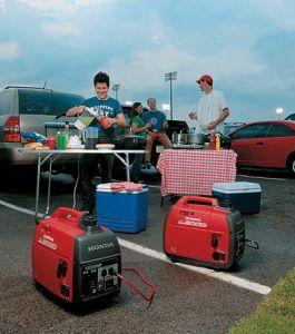 eu2000i on a camping trip